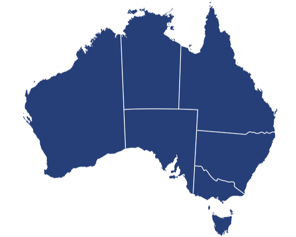 AFG - Australia map