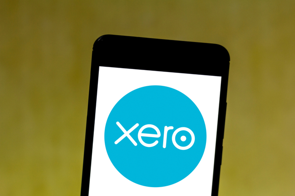 Xero logo displayed on a smartphone