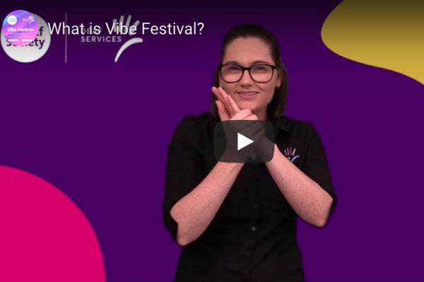 Woman talking in a video