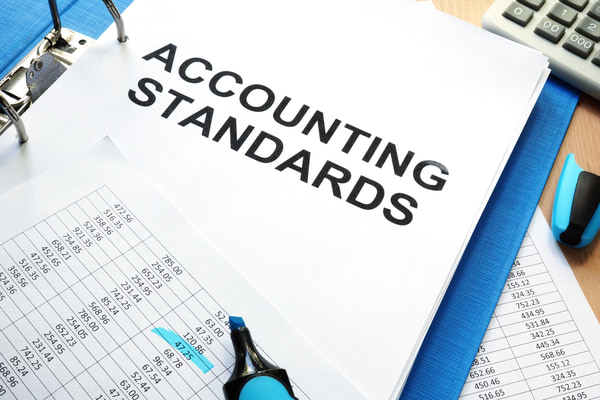 Folder with documents accounting standards