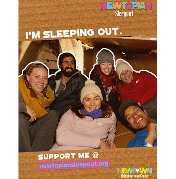 Flyer of Newtopian Sleepout